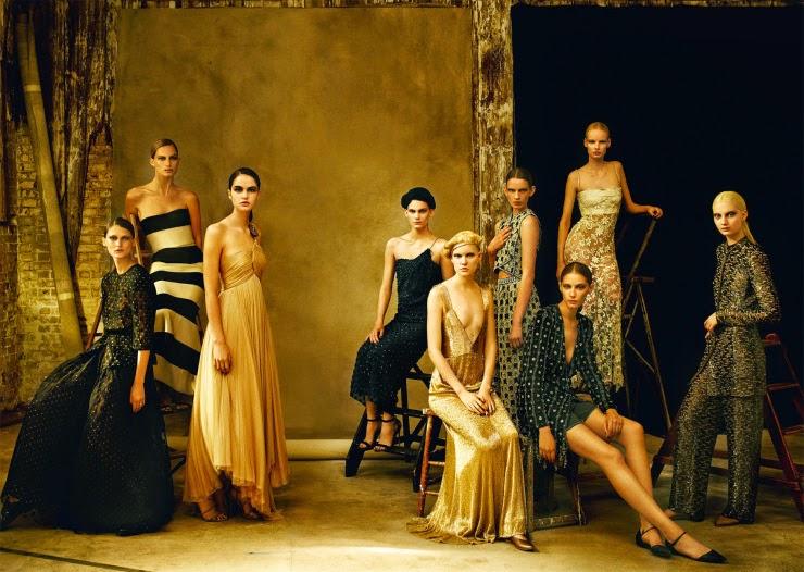 Linn Arvidsson, Melina Gesto, Lena Hardt, Misha Hart, Irene Hiemstra for Vogue UK February 2015