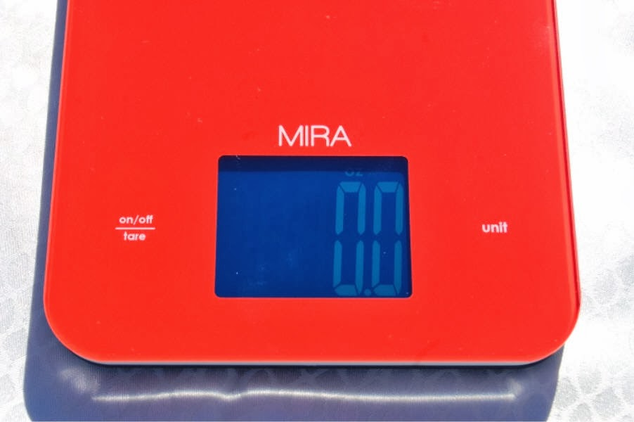 Royalegacy Reviews And More Mira Touch Professional Digital Kitchen Scale In Red Review