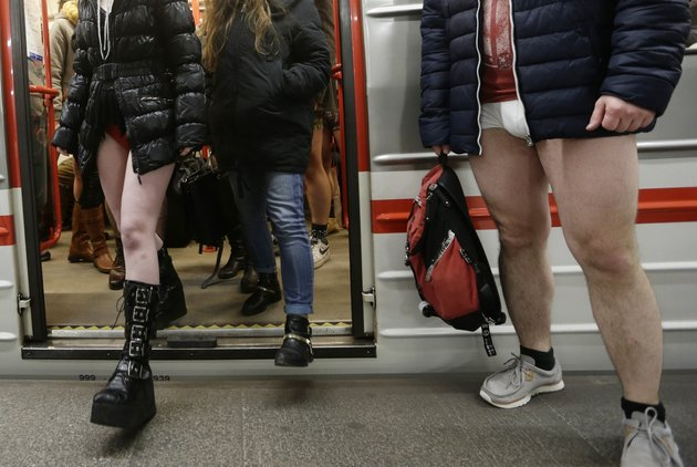 Photos: Tens of thousands strip down to celebrate 'no pants subway ride' 2