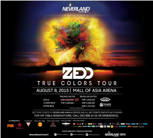 ZEDD TRUE COLORS MANILA TOUR | Benteuno.com
