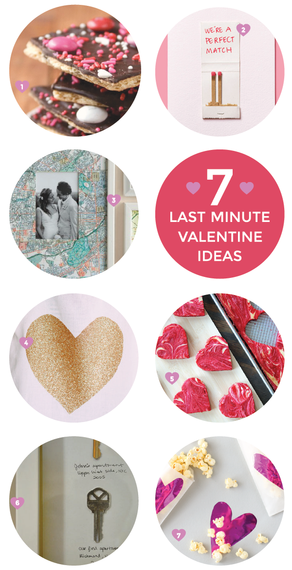 easy last-minute valentine ideas!