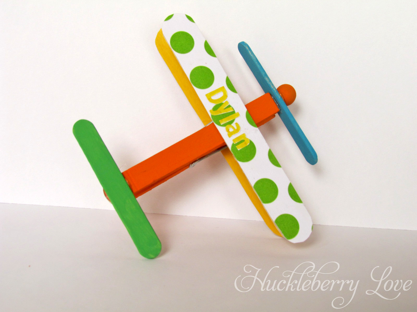 Huckleberry Love Clothespin Airplanes Baby Shower Decor