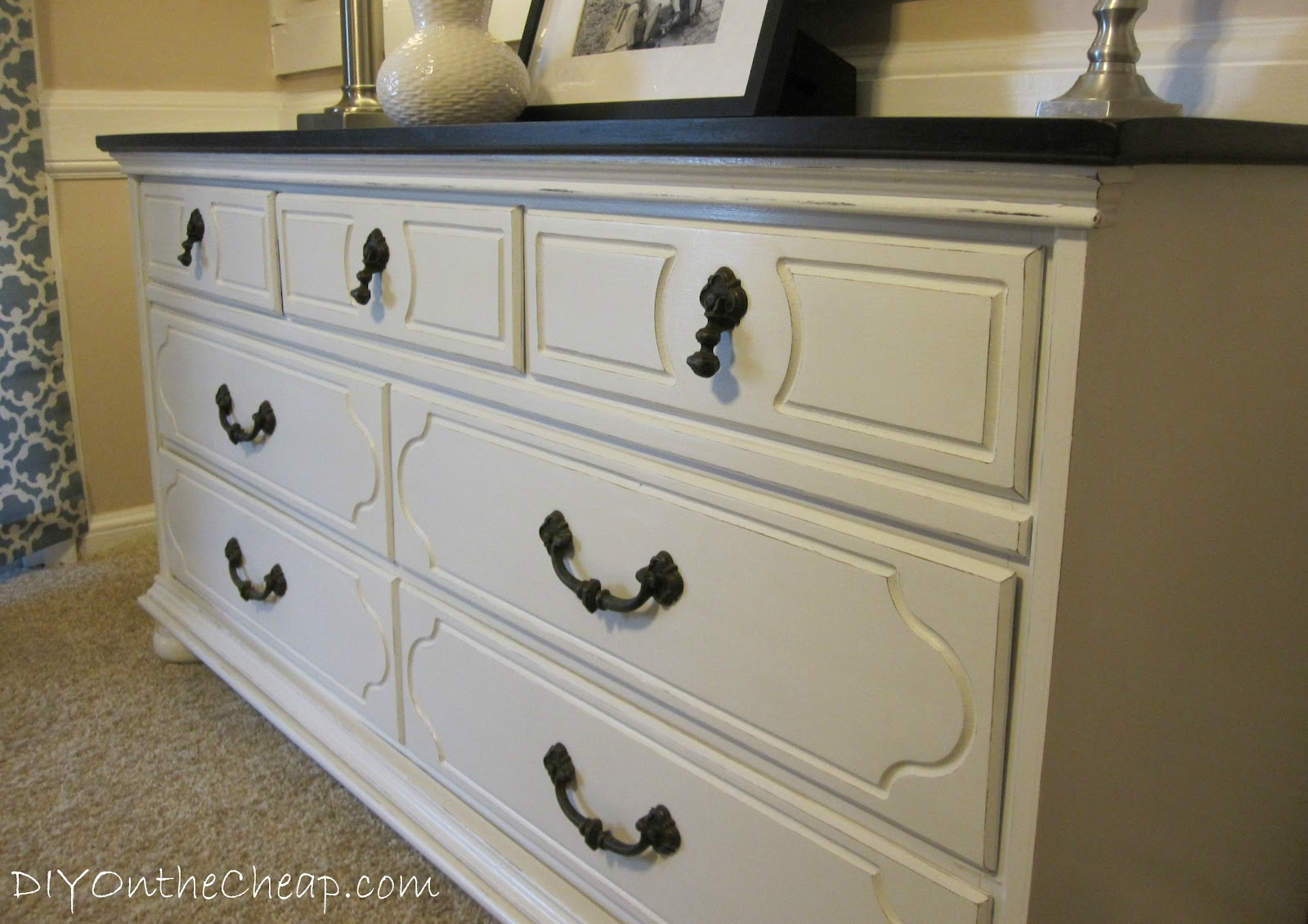 Refinished dresser reveal erin spain for How to refinish furniture with paint