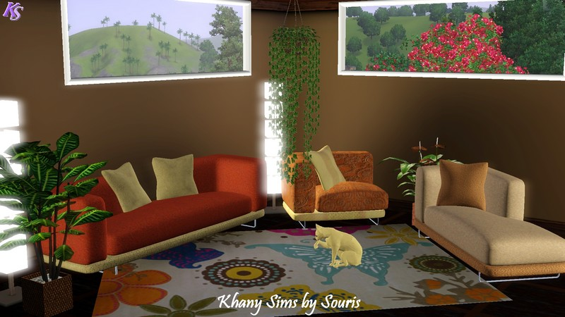 My sims 3 blog salon m ridienne by souris for Meridienne salon