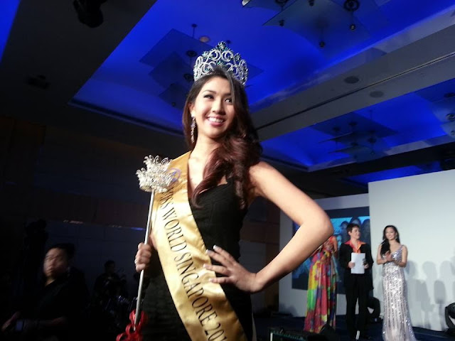 Miss World Singapore 2013 winner Maria Anna Weiling Zenieris