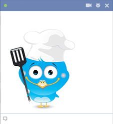 Bird cooking icon