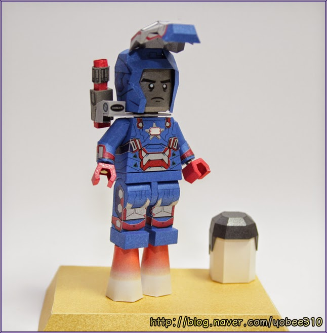 Lego Iron Patriot Paper Craft Model