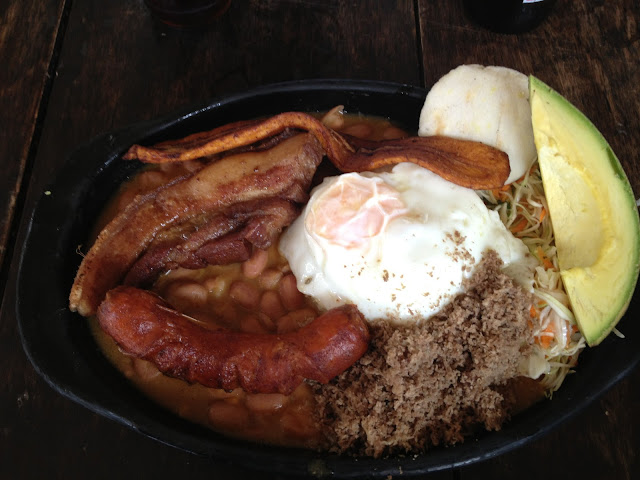 Bandeja Paisa - a lovely Colombian dish!