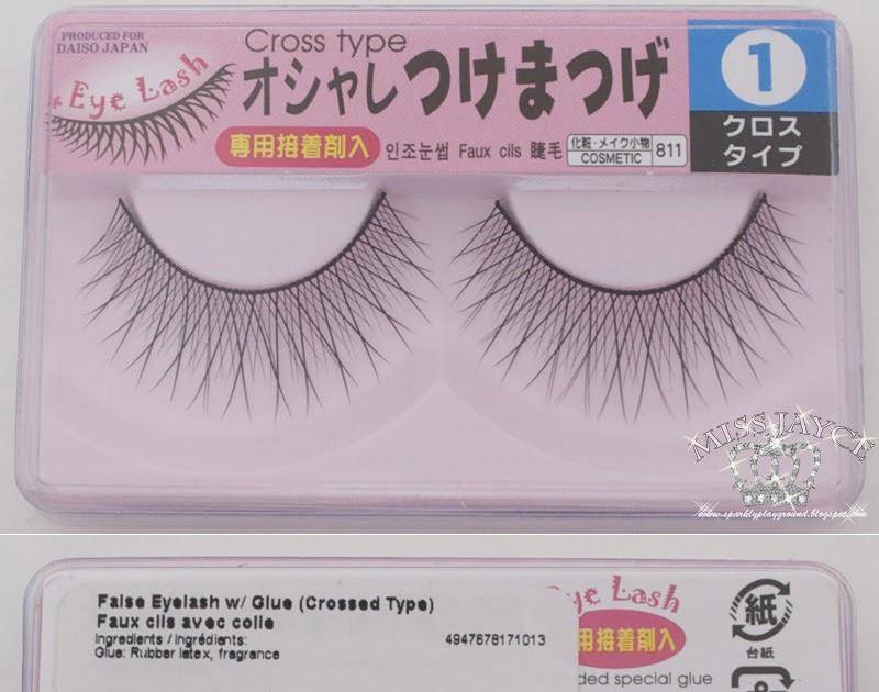 Review Daiso Eyelashes W Glue 1 Sparkly Playground