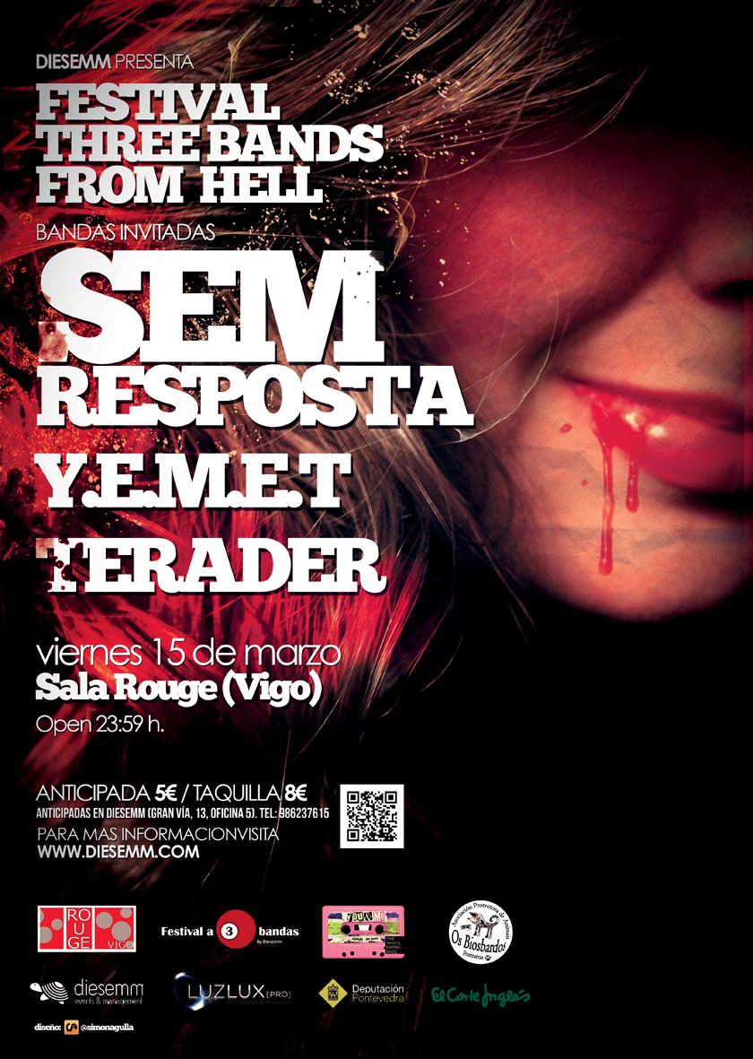 Vigopolis diario festival a 3 bandas three bands from hell for Sala rouge vigo