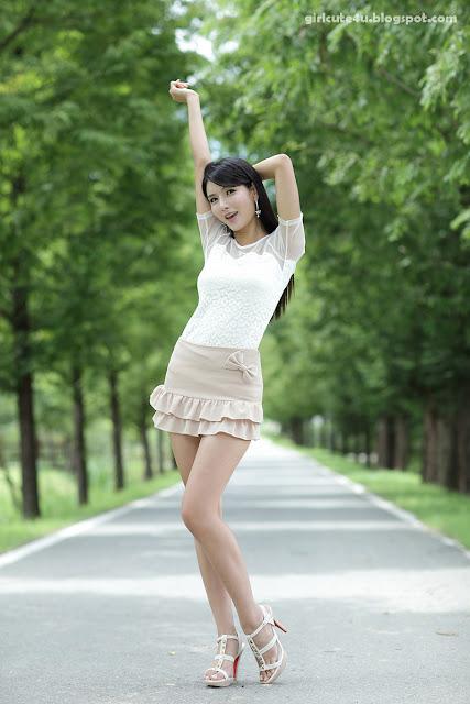 5 Cha Sun Hwa-Ruffle Mini Dress-very cute asian girl-girlcute4u.blogspot.com