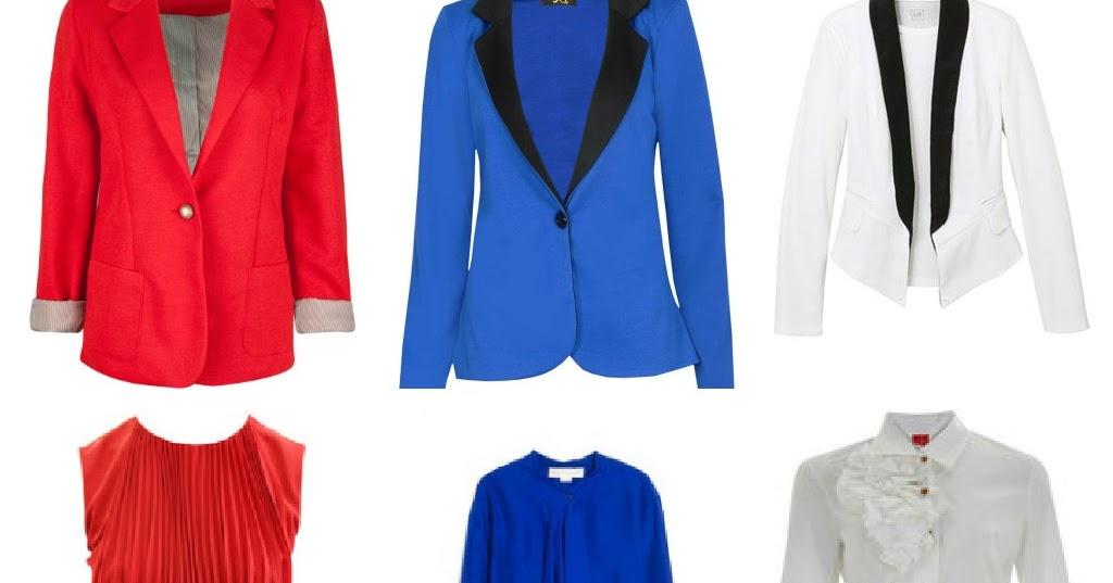 Monochromatics ali's fashion sense: the red, the white, the blue