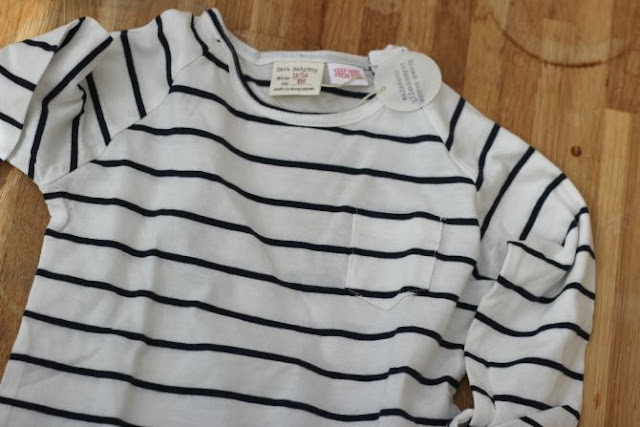 Blue and white stripe top from Zara Baby