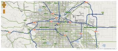 Imagen de un ejemplo de un mapa en MapServer