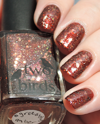Two Birds Lacquer - Agreeably Amber