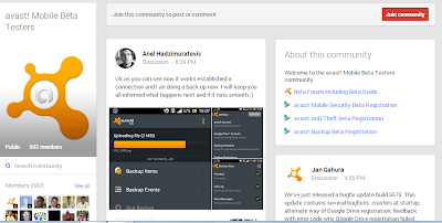 Become a beta tester for avast! Mobile Security, Anti Theft, Mobile Backup for Android devices, sign up now