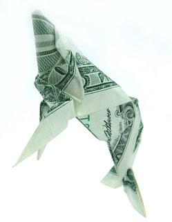 origami o  papiroflexia con dólares