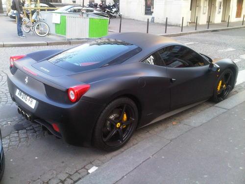 matte fanatic matte black ferrari 458 italia