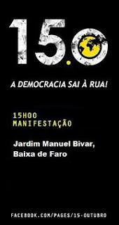 15 O Faro Algarve Manif por Portugal Democracia Verdadeira Já Soberania Nacional Jardim Manuel Bivar Baixa de Faro! Revolução Internacional
