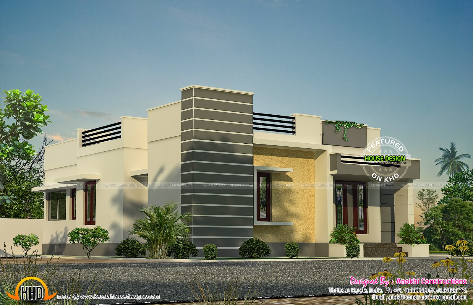 Space saving home design kerala home design and floor plans for The space scape architects thrissur kerala