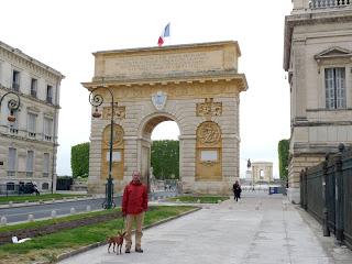 L'arc de triomphe de Montpellier モンペリエの凱旋門