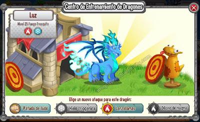 imagen de los ataques de entreno del dragon fuego frequito