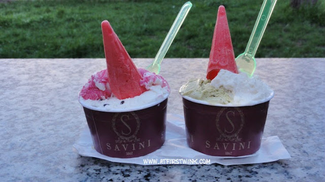 Savini gelato ice cream Milan