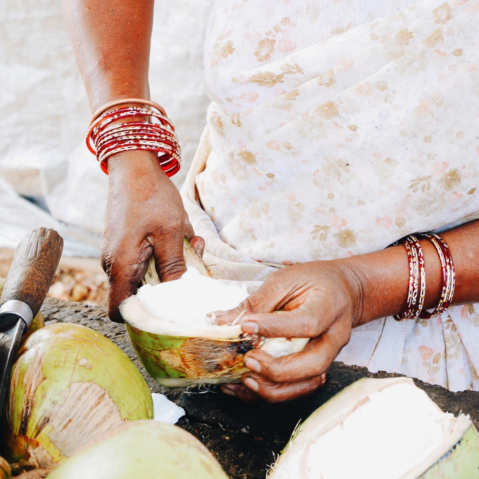 Street side coconut, Goa