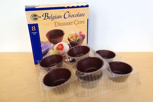 Dobla Belgian Chocolate Dessert Cups