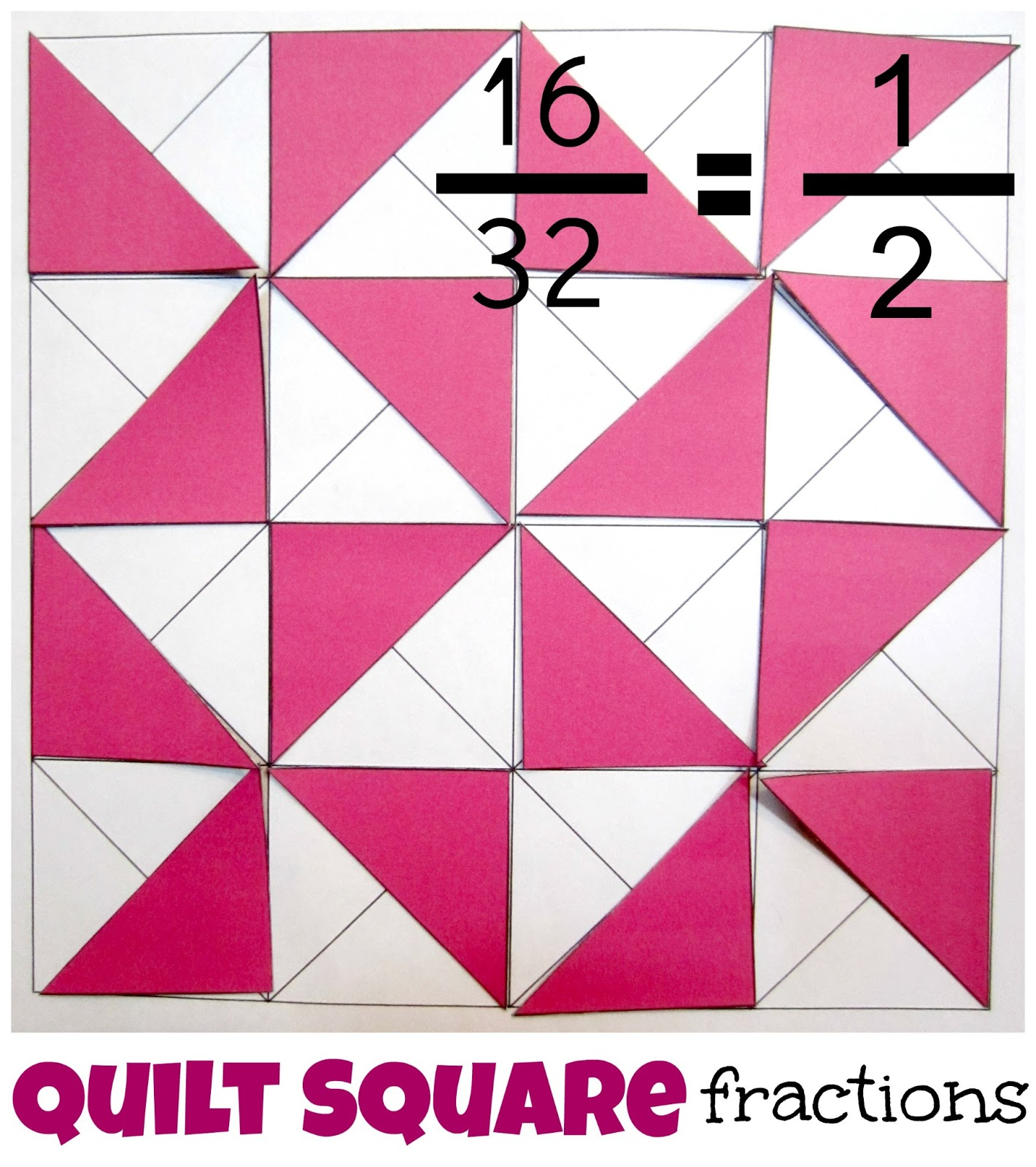 Relentlessly Fun, Deceptively Educational: Quilt Square Fractions How To  Divide