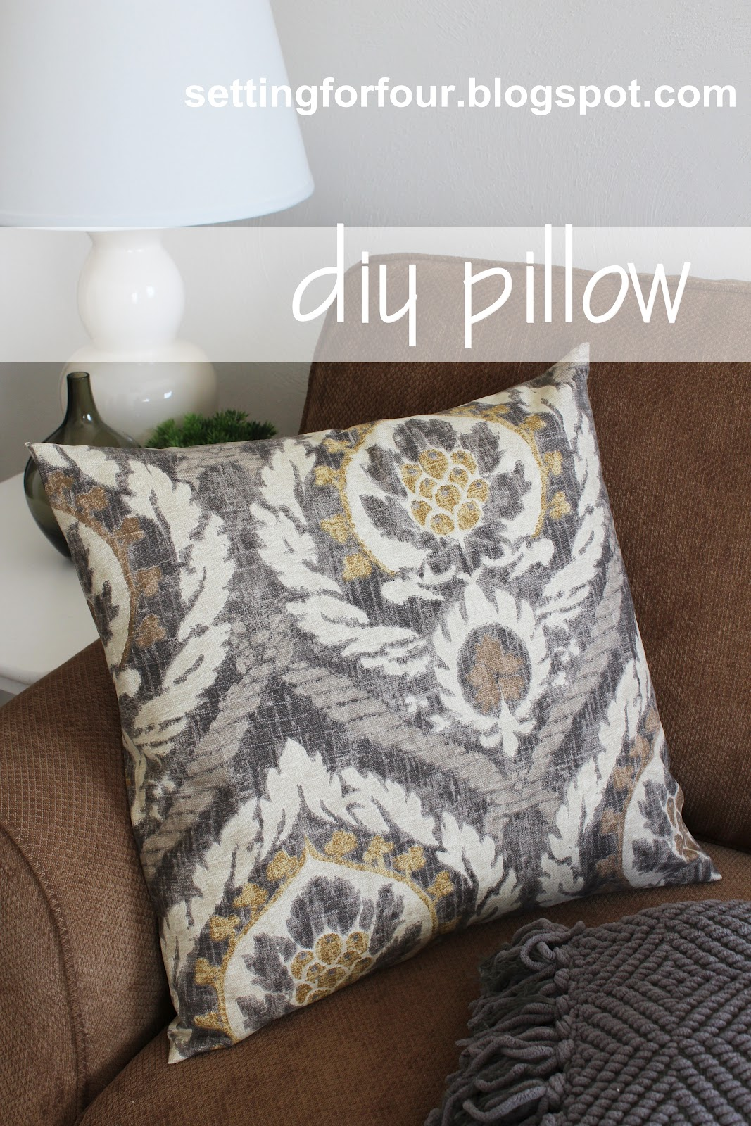 Ballard Design Pillows diy pillow cover 5 minutes to make! - setting for four