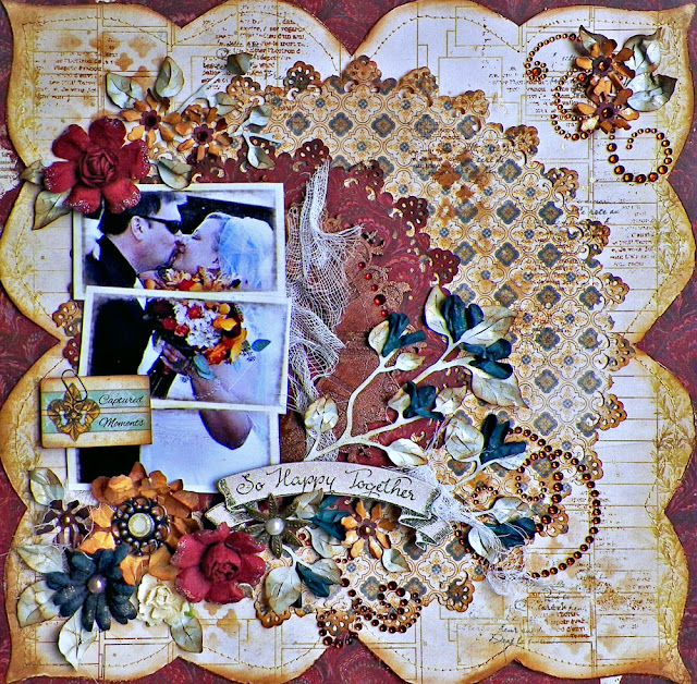 So Happy Together Layout by Lisa Novogrodski for BoBunny and Scrap Africa using Heritage and Juliet Collections