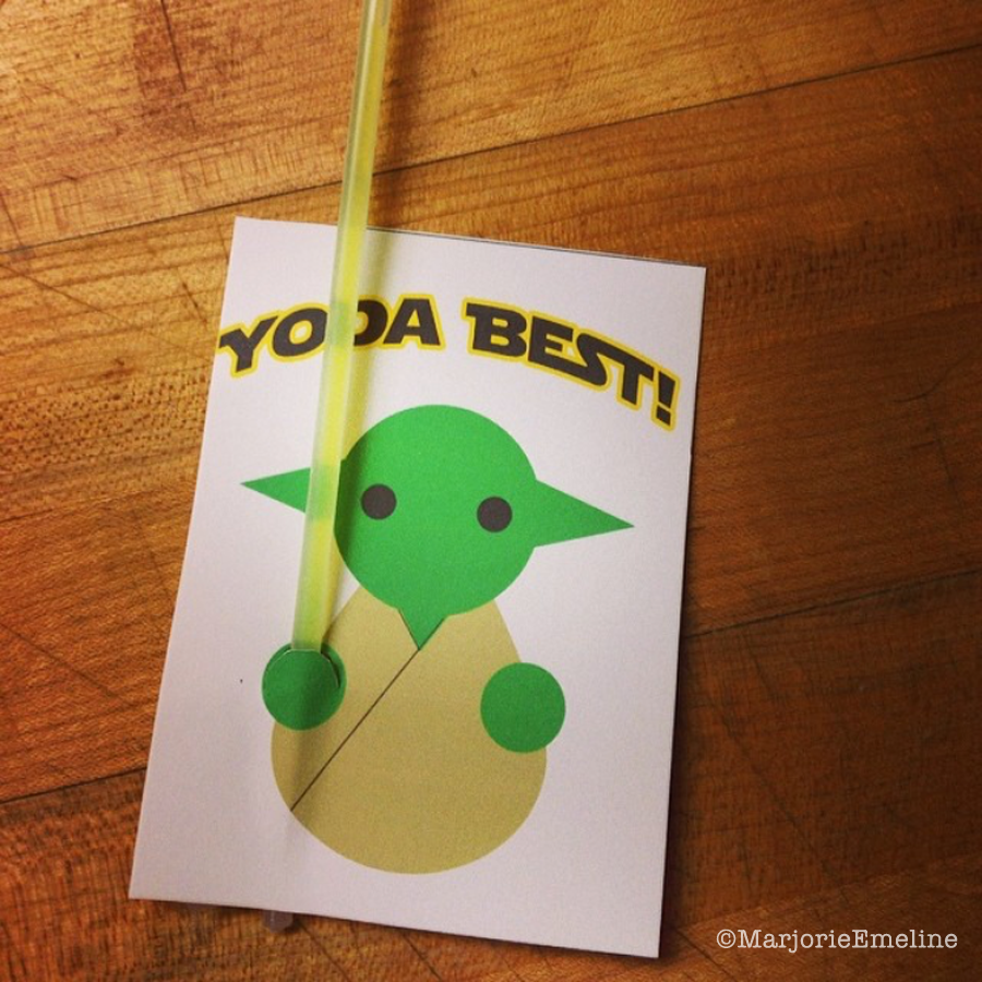 Yoda Best Valentine (free Printable) |  Livingwiththreemoonbabies.blogspot.com