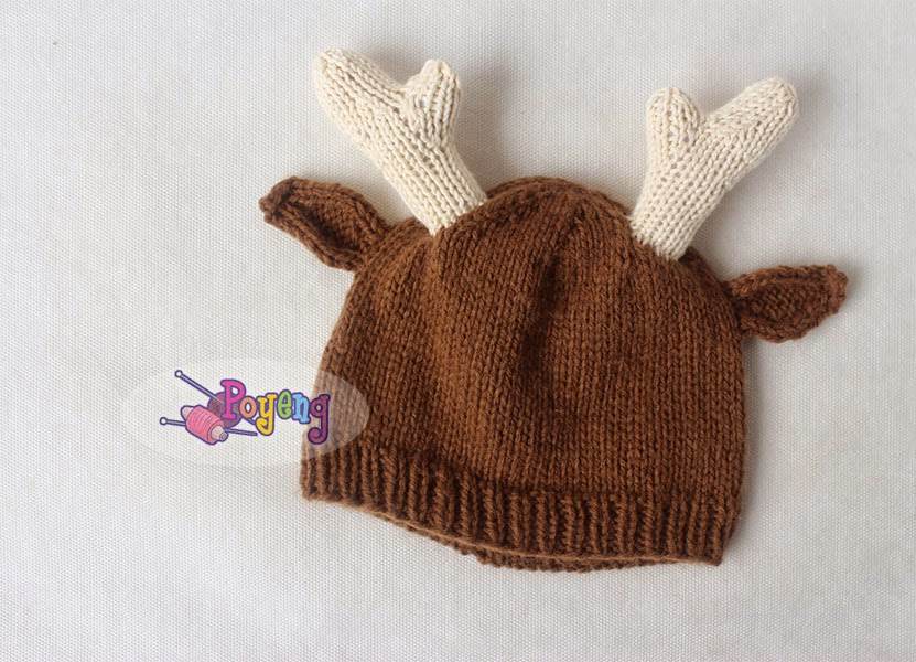 Ajeng Belajar Merajut: Rajut Free Knitting Pattern : Little Deer Hat