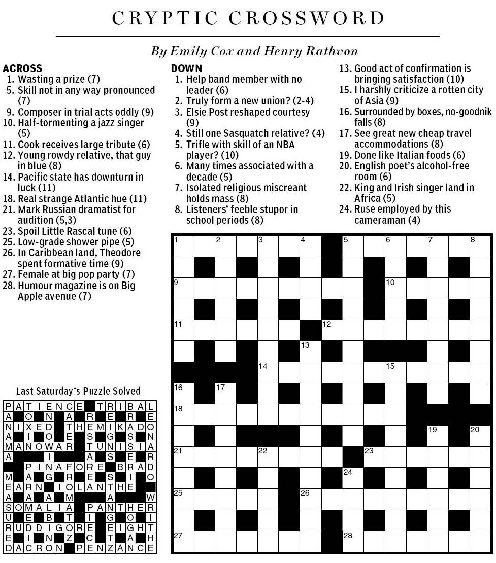 Business Letter Abbr Crossword