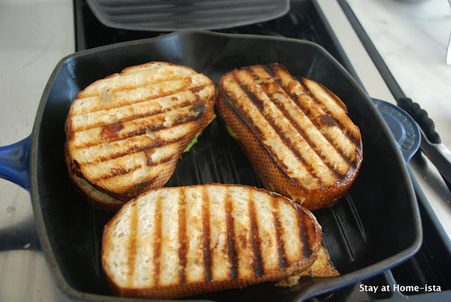 grilled cheese in the Le Creuset grill pan