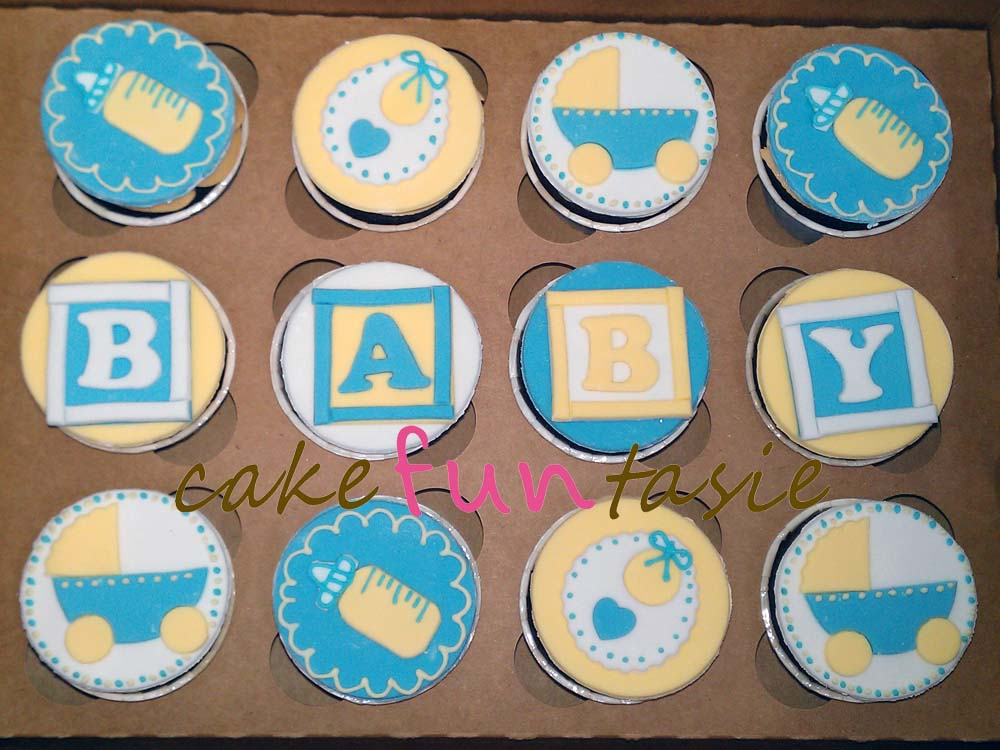 Baby Shower Cupcake Cakes Boy : Cake Funtasie: Baby Shower Boy Cupcakes