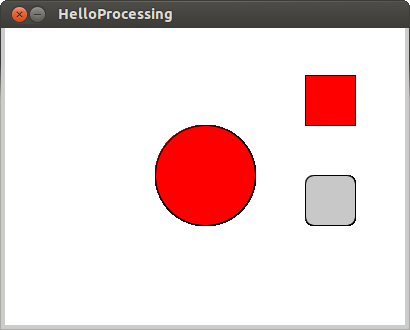implement button in Processing