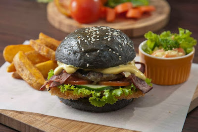 Resep Black Burger Halal Asli Indonesia