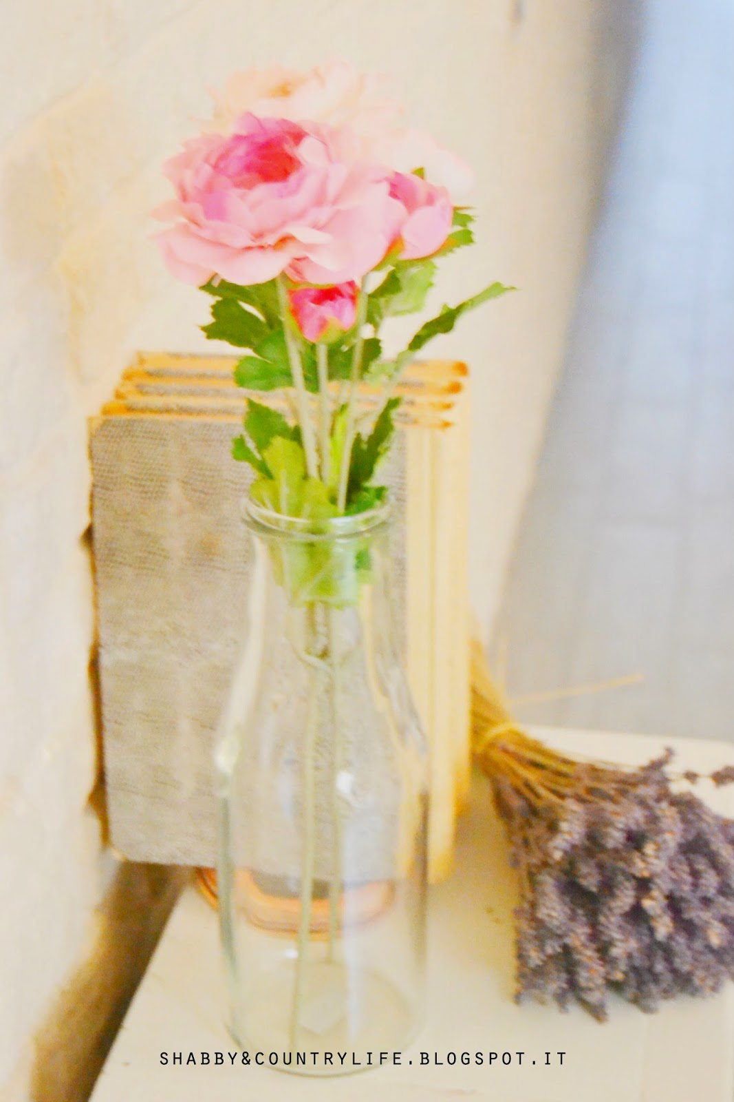 Roses in glass jar