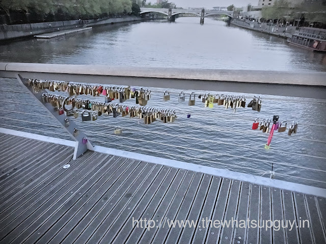 Love Locks in Southbank Foot bridge