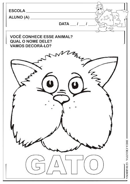 Atividade Animal Doméstico Maternalzinho Fazendo Arte
