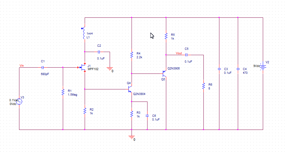 Signal booster Schematic