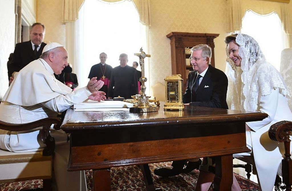 Pope King Pope Francis Meets With King