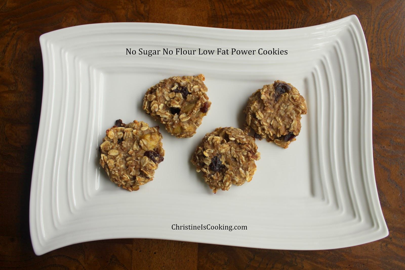 ChristineIsCooking.com: No Sugar No Flour Low Fat Power Cookies