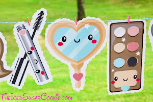 Makeup Birthday Banner