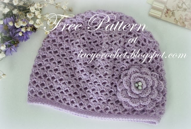 Crochet Patterns Baby Hats : Lacy Crochet: Cashmere Crochet Baby Hat, Size 12 Months, Free Pattern