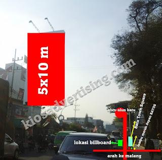 Sewa Titik Lokasi Papan Billboard Bando di Malang