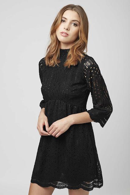 black mesh dress, motel black hole dress,