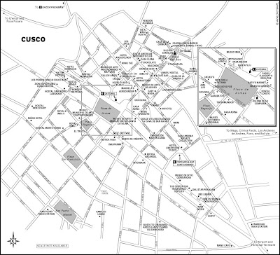 Mapa turístico de Cusco